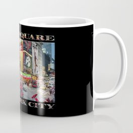 Times Square II (widescreen on black) Coffee Mug