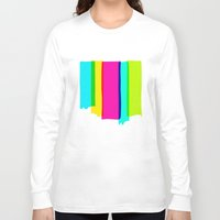 the strokes Long Sleeve T-shirts featuring Brush Strokes by Ulrika Bygge