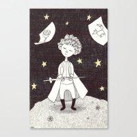 le petit prince Canvas Prints featuring Le petit prince by nu boniglio