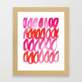 Pink Rain Framed Art Print