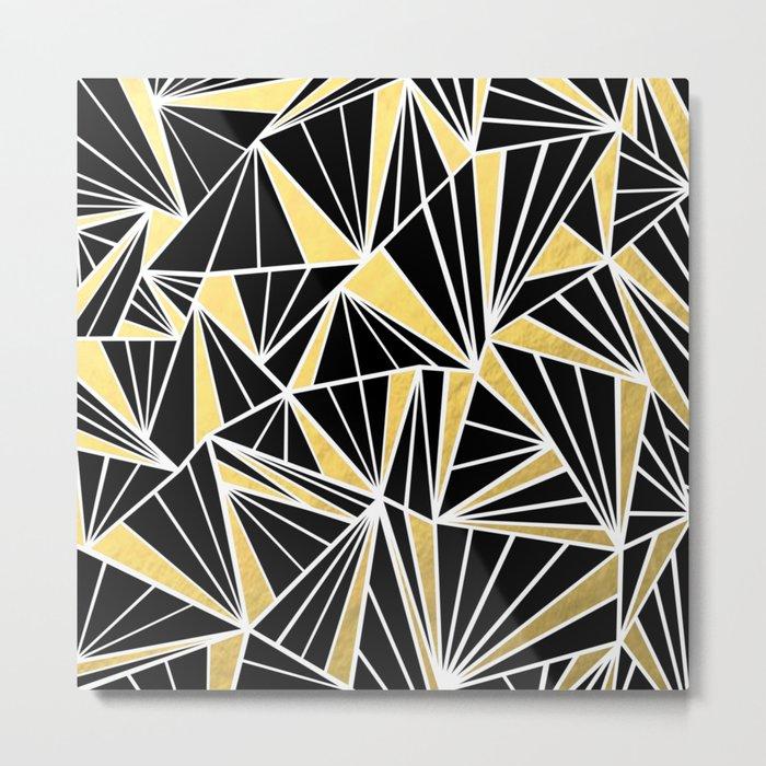 Ab Fan Zoom Gold Metal Print