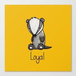 The Loyal Badger Canvas Print