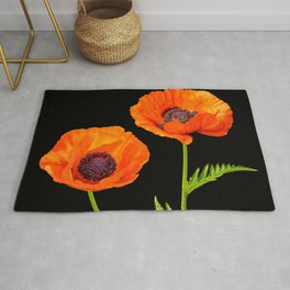 Two beautiful  poppies Rug
