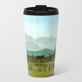 Surveyor's Wagon in the Rockies Travel Mug