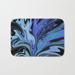 Blue Black Paint Spill Bath Mat