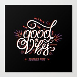 Good Vibes Summer Time Canvas Print