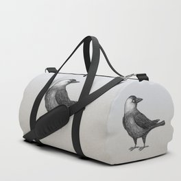 Western jackdaw pencildrawing Duffle Bag