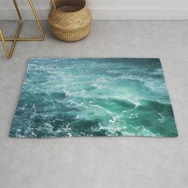 Sea Waves | Seascape Photography | Water | Ocean | Beach | Aerial Photography Rug