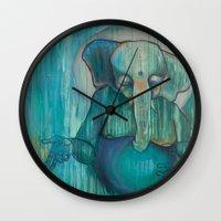 ganesh Wall Clocks featuring Ganesh  by Magick Monica