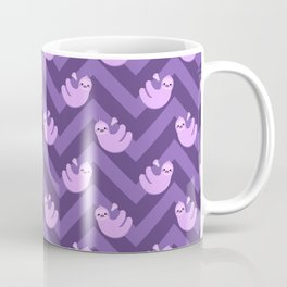 Purple sloths and chevrons Coffee Mug