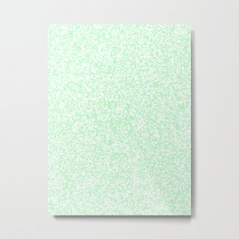 Tiny Spots - White and Mint Green Metal Print