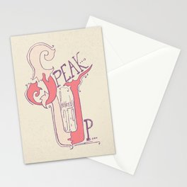 Speak Up   Proverbs 31:9 (feminine colors) Stationery Cards