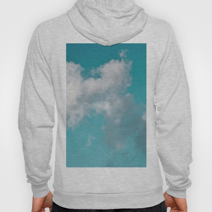Floating cotton candy with blue green Hoody