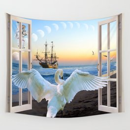 In the sunset beach c Wall Tapestry