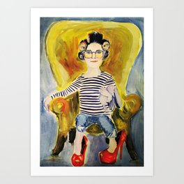 In mom's shoes Art Print