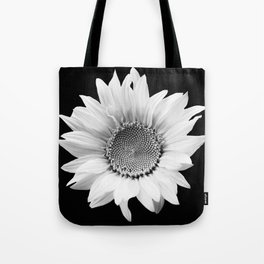 Sunflower In Black And White #decor #society6 #buyart Tote Bag