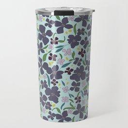 Flower Meadow - Purple Travel Mug