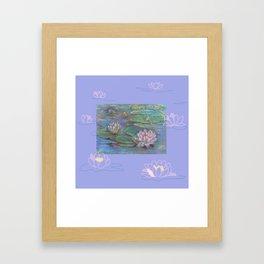 Water Lily Lotus Flower Framed Art Print