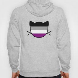 Asexual Flag Cat Hoody