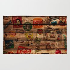 Wooden wall of Brands Rug