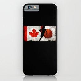 Basketball Women Canada Flag Tokyo 2021 Japan Flag iPhone Case
