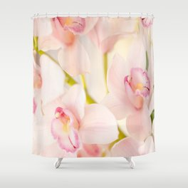 Orchid Flower Bouquet On A Light Background #decor #society6 #homedecor Shower Curtain