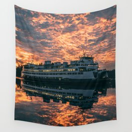 Friday Harbor Ferry Wall Tapestry