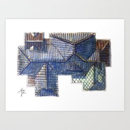 Taiwanese roofscapes 02 Art Print