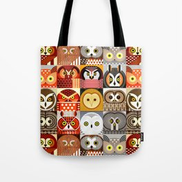 North American Owls Tote Bag