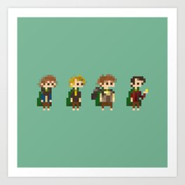 Frodo, Sam, Pippin and merry Art Print