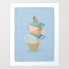 How Much Coffee is Too Much Coffee Art Print