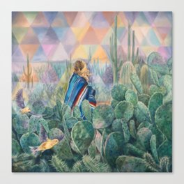 Cactus Land Canvas Print