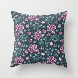 They Only Come Out At Night - Beautiful Abstract Flowers Throw Pillow