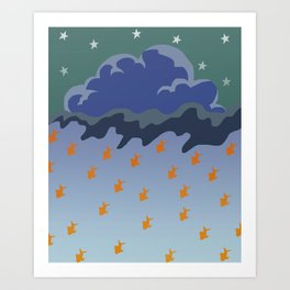Stars and Fish Art Print