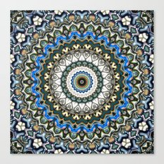 Ornate Colorful Mandala Canvas Print