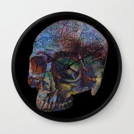 Skull Map Wall Clock