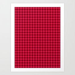 Crimson Red and Burgundy Red Diamonds Art Print