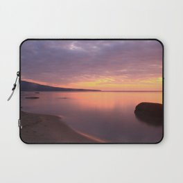 Fiery Sunset over the Porkies Laptop Sleeve