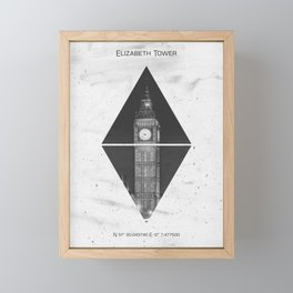 Coordinates LONDON Elizabeth Tower Framed Mini Art Print