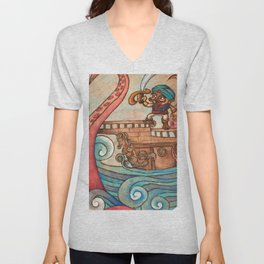 Simbad: Monsters of deep sea. Unisex V-Neck