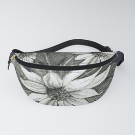 Florida Flower Navy Blue Background Fanny Pack