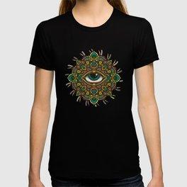 All seeing eye flower T-shirt