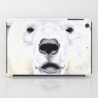 polar bear iPad Cases featuring Polar Bear by StudioBlueRoom