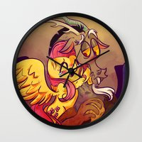 mlp Wall Clocks featuring MLP: Fluttercord by Erika Draw