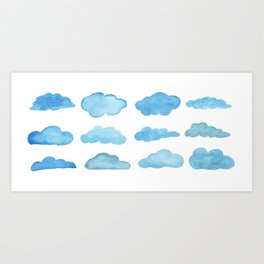 waterclouds Art Print