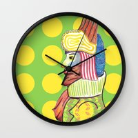 broadway Wall Clocks featuring Broadway by Adrienne S. Price