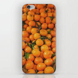 clémentine feuille iPhone Skin