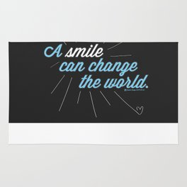 A Smile Can Change The World Rug