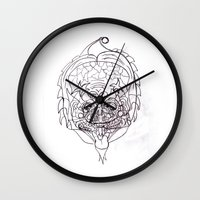 predator Wall Clocks featuring Predator. by sonigque