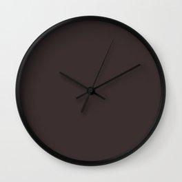 Black Coffee - solid color Wall Clock